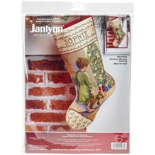 Christmas Morning Stocking Counted Cross Stitch Kit18in Long 14 Count