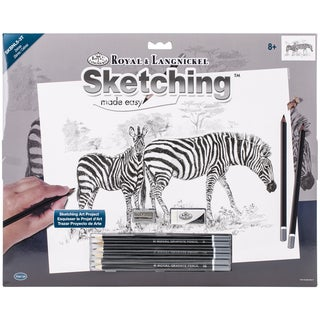 Sketching Made Easy Large Kit 16inX12.75inZebras