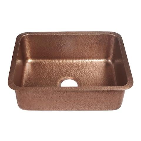 """Sinkology Renoir Undermount Handmade 23"""" Single Bowl Kitchen Sink"""