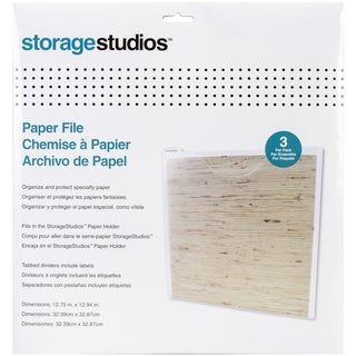 Storage Studios Paper Files W/Tabbed Dividers & Labels 3/Pkg12.75inX13in