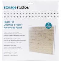 Storage Studios Paper Files W/Tabbed Dividers & Labels 3/Pkg12.75inX13in