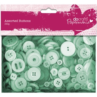 Papermania Buttons Assorted 250gGreen