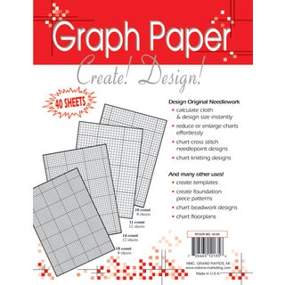 Needlework Graph Papers8.5inX11in 40/Pkg