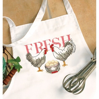 Stamped Cross Stitch Apron 33inX36inRooster