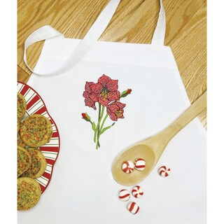 Stamped Cross Stitch Apron 33inX36inAmaryliss