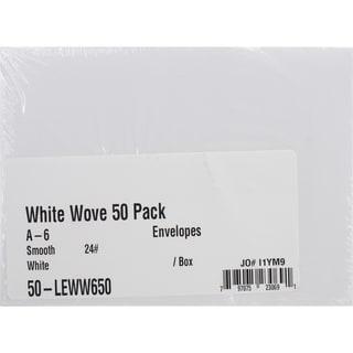 Leader A6 Envelopes (4.75inX6.5in) 50/PkgWhite