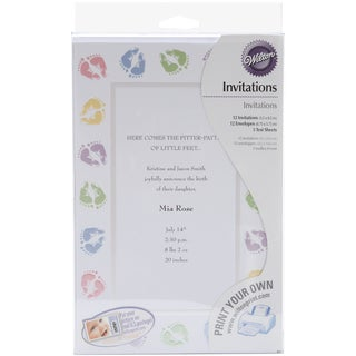 Invitation Kit Makes 12Baby Feet