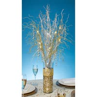 LED Lighted Gold Branch Spray 30inBattery Operated