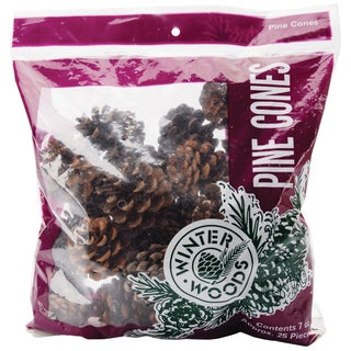 Natural Red Pine Cones 7oz/Pkg