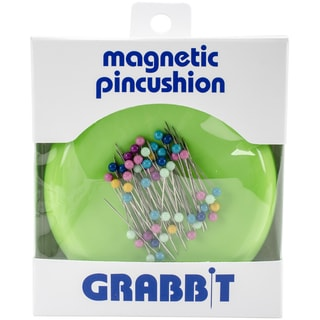 Grabbit Magnetic Pincushion W/50 PinsLime