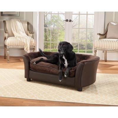 Enchanted Home Pet Ultra-plush Brown Panache Pet Bed Sofa