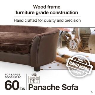 Enchanted Home Brown Ultra-plush Panache Pet Bed Sofa
