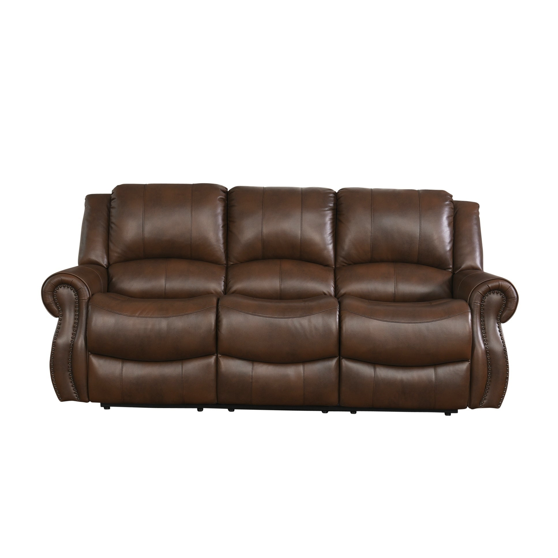 Brown Leather Recliner Sofa Torben Brown Leather Reclining