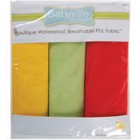 Babyville PUL Waterproof Diaper Fabric 21inX24in Cuts 3/PkgNeutral Solids