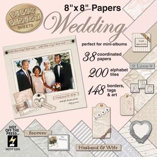 Paper Pizazz Paper & Accents 8inX8inWedding