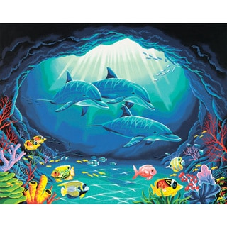 Paint Works Paint By Number Kit 20inX16inDeep Sea Paradise