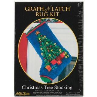 Latch Hook Kit 12inX17inChristmas Tree Stocking
