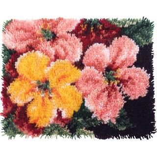 Wonderart Latch Hook Kit 15inX20inBrilliant Blossoms
