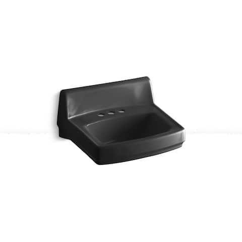 Kohler Greenwich Wall-mount Bathroom Sink in Black Black