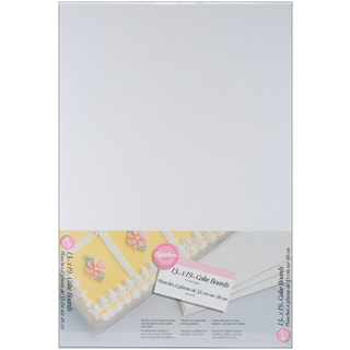 WILTON-Cake Boards. Use corrugated cardboard for strength and stability. This package contains six 13x19in white boards.