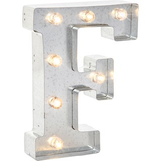 Silver Metal Marquee Letter 9.875inF
