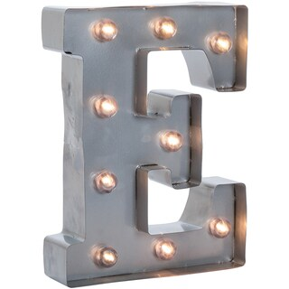Silver Metal Marquee Letter 9.875inE
