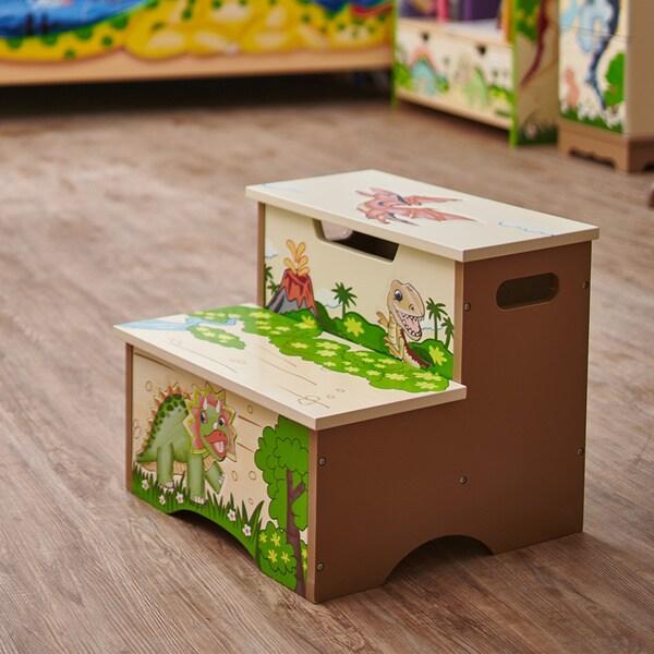 Shop Fantasy Fields Dinosaur Kingdom Step Stool On Sale