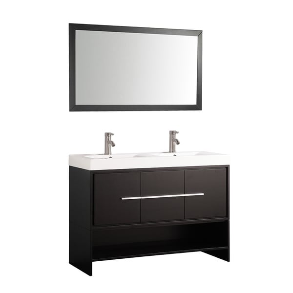 Shop mtd vanities belarus 48 inch double sink bathroom for 48 inch mirrored bathroom vanity
