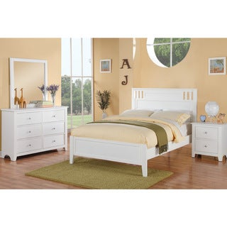 Borschiv 4 Pieces Youth Bed Room Set in White (White)