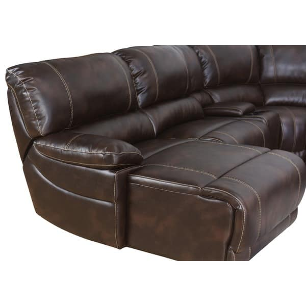 Amazing Shop Abbyson Cooper 6 Piece Dark Brown Sectional Sofa On Caraccident5 Cool Chair Designs And Ideas Caraccident5Info