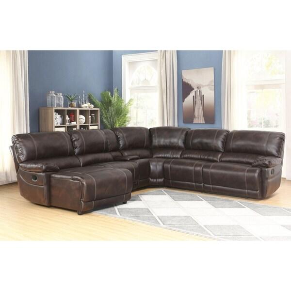 e3dc85222e1d46 Shop Abbyson Cooper 6-piece Dark Brown Sectional Sofa - Free ...