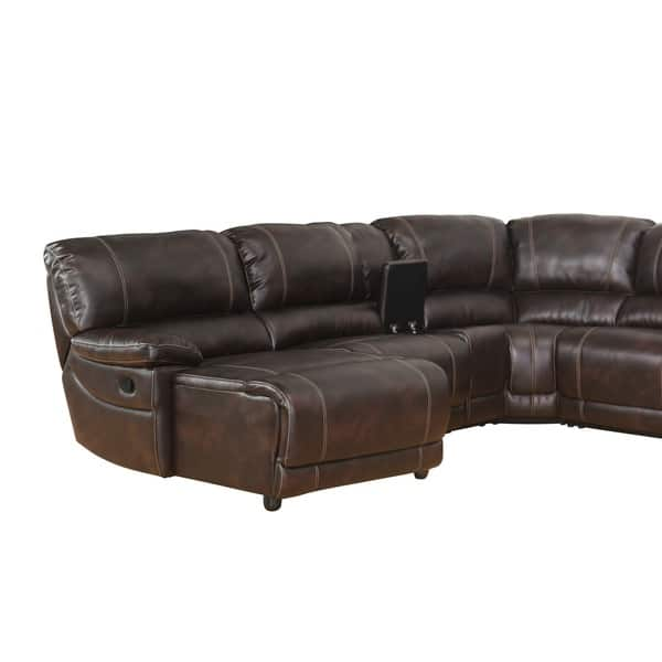 Fabulous Shop Abbyson Cooper 6 Piece Dark Brown Sectional Sofa On Caraccident5 Cool Chair Designs And Ideas Caraccident5Info