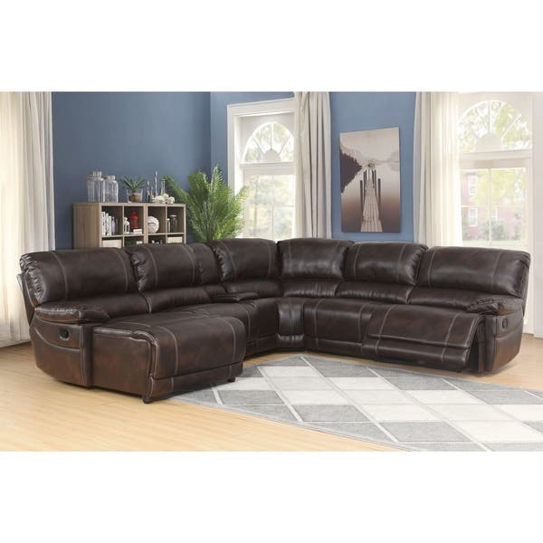 Super Shop Abbyson Cooper 6 Piece Dark Brown Sectional Sofa On Caraccident5 Cool Chair Designs And Ideas Caraccident5Info