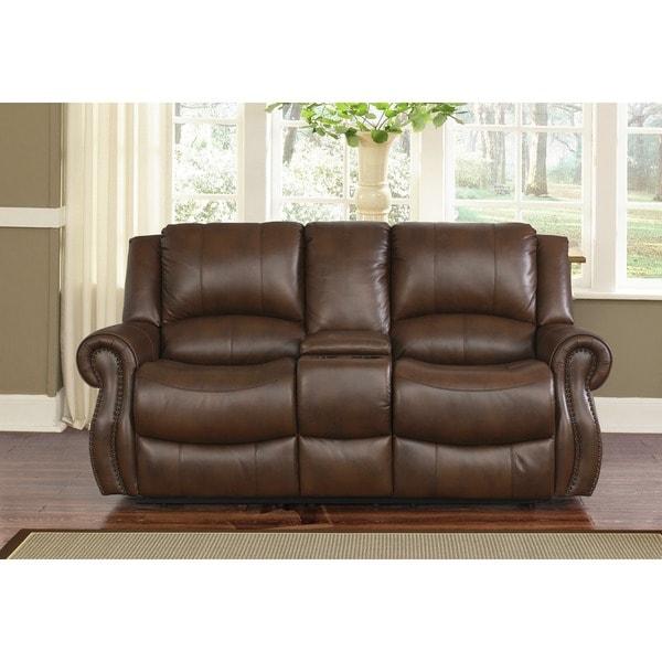 Abbyson Calabasas 3 Piece Mesa Camel Reclining Sofa Set   Free Shipping  Today   Overstock.com   17634868