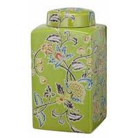 kathy ireland Home 5.5x5.5 Square Lidded Jar