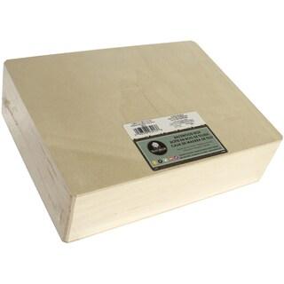 Basswood Cornice Hinged Box12inX3.25inX9in