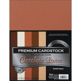 Core'dinations Value Pack Cardstock 8.5inX11in 50/PkgChocolate Lovers Smooth