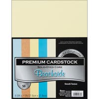 Core'dinations Value Pack Cardstock 8.5inX11in 50/PkgBeachside  Smooth
