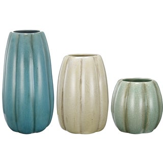 kathy ireland Ceramic Vases (Set of 3)