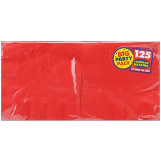Big Party Pack Luncheon Napkins 6.5inX6.5in 125/PkgApple Red