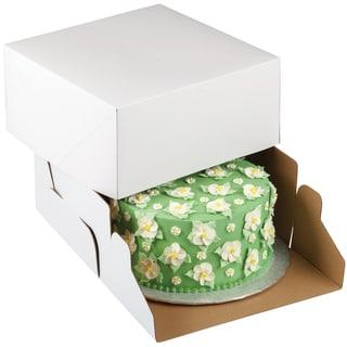 Corrugated Cake Boxes2/Pkg 10inX10inX5in
