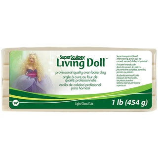 Super Sculpey Living Doll Clay 1lbLight
