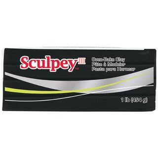 Sculpey III Polymer Clay 1lbBlack