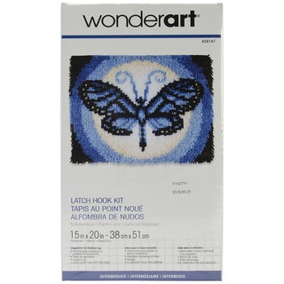 Wonderart Latch Hook Kit 15inX20inButterfly Moon