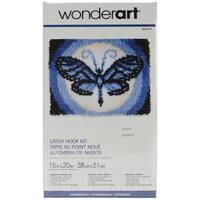 Wonderart Latch Hook Kit 15inX20inButterfly Moon