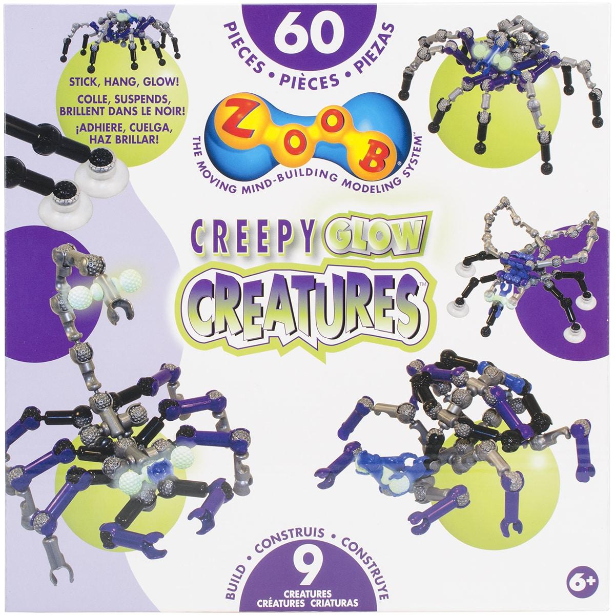 Slinky Zoob Set 60pcCreepy Glow Creatures (Creepy Glow Cr...
