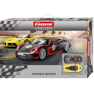 Carrera Power Boost Evolution 1:32 Scale Slot Car Race Set