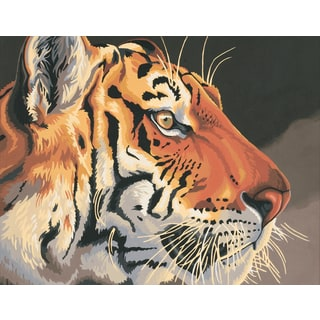 Paint Works Paint By Number Kit 14inX11inRegal Tiger