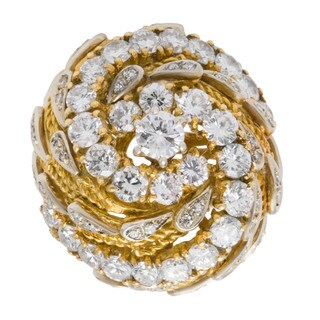 18k Yellow Gold 3 1/5ct TDW Spiral Dome Estate Ring (G-H, VS1-VS2) (Size 3.25)