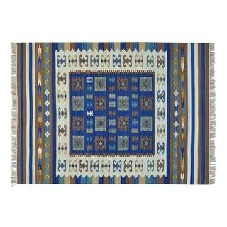 Flat Weave Anatolian Kilim Hand-woven Oriental Rug (5'6 x 7'5)